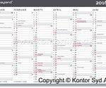 Få hjælp fra en kalender af papir, det giver hurtigt et overblik (foto: kontorting.dk)